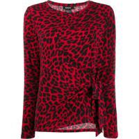 Dkny Blusa Com Estampa De Leopardo - Vermelho