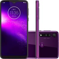 Smartphone Motorola Moto One Macro 64Gb 4Gb Ram Nacional Ultra Violeta
