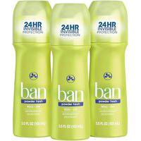 Ban Kit Desodorante Antitranspirante Roll-On 103Ml Trio - Powder Fresh