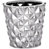 Cachepot Metalizado- Prateado- 7Xã˜7,5Cm- Martmart