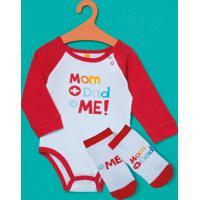 Kit Body + Meia Mom Dad Baby Puket