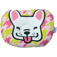 Travesseiro Anatômico Bebê Com Estampa De Cachorrinho - Rosa