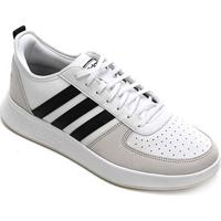 Tênis Adidas Court80S Masculino - Masculino-Branco+Bege