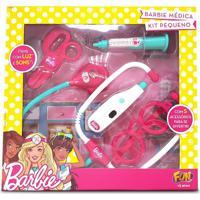 Barbie Kit Médica Pequeno Com Termômetro - Fun Divirta-Se - Kanui