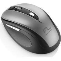 Mouse Sem Fio Multilaser Comfort Mo238 1600Dpi 2.4Ghz Usb Com 6 Botões – Preto/Cinza