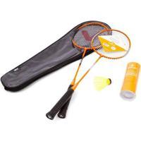 Kit Badminton Vollo 2 Raquetes + 3 Petecas + Bolsa - Unissex
