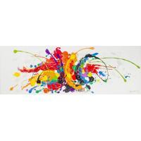 Quadro Pintura Abstrata Cores 70X200 Fullway