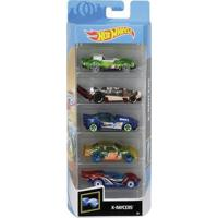 Carrinhos Hot Wheels Pack Com 5 X-Raycers - Mattel - Kanui