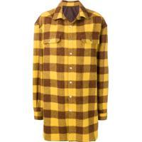 Rick Owens Camisa Xadrez - Amarelo