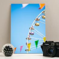 Placa Decorativa - Colorfull Ferris Wheel