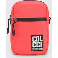Bolsa Colcci Fitness Crossbody Etiqueta Coral