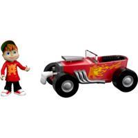 Mini Figura Com Veículo - Alvinnn!!! E Os Esquilos - Alvin - Mattel - Masculino-Incolor