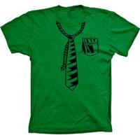 Camiseta Baby Look Lu Geek Gravata Verde