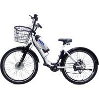 Bicicleta Elétrica Machine Motors Deluxe 350W 36V Branco/Preto