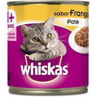 Ração Para Gatos Whiskas Adulto 1+ Anos Patê Sabor Frango Lata 290G
