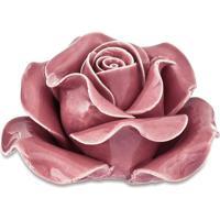 Flor Decorativa Em Camadas- Rosa- 5,5Xã˜9,5Cm- Mamart
