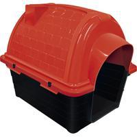 Casinha Plástica Para Pets Iglu 52X48Cm Vermelha