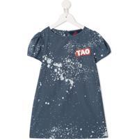 The Animals Observatory Vestido Splashes - Azul