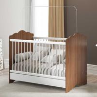 Berço 3 Em 1 Cama Sleeper Baby Avelã/Branco - Pnr Móveis