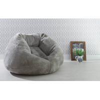 Puff Redondo Decorativo Cozy - Cor Cinza - 120X110X70Cm