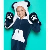 Gorro Pelãºcia Panda- Azul Marinho & Branco- 23,5X24,Puket