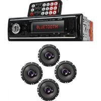 Auto Radio Automotivo Bluetooth Mp3 Player Usb Sd E 2 Pares Alto-Falante Pioneer Triaxial 6 Polegadas 100W Rms