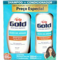 Kit Shampoo E Condicionador Niely Gold Óleo De Argan