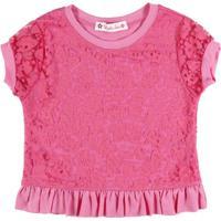 Blusa Infantil Little Star Babado - Feminino-Rosa