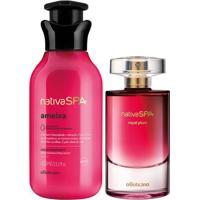 Combo Nativa Spa Ameixa: Royal Plumm Desodorante Colônia + Loção Desodorante Corporal 400Ml