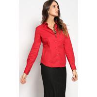 Camisa Com Bordado - Vermelha & Pretavip Reserva