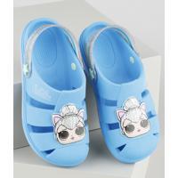 Babuche Infantil Lol Surprise Com Brilho Azul