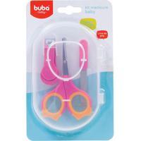 Kit Cuidados Com As Unhas Do Bebê Rosa (0M+) - Buba Buba6140-R Kit Manicure Baby Rosa