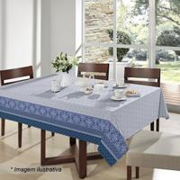 Toalha De Mesa Royal Verona- Azul & Branca- 160X160Csantista