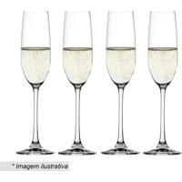 Jogo De Taã§As Para Vinho Champagne Salute- Incolor- M.Cassab