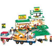 Blocos De Encaixe Xalingo Mecânicos Em Ação Car Center 520 Peças Multicolorido - Kanui