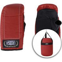 Kit De Boxe Punch Com Saco De Pancada + Luvas De Bate-Saco - Infantil - Vermelho/Preto