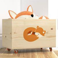 Caixa Organizadora Para Brinquedos Raposinha Grão De Gente Laranja
