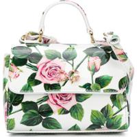 Dolce & Gabbana Kids Bolsa Tote Com Estampa De Rosa - Branco