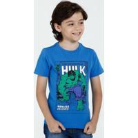 Camiseta Infantil Manga Curta Estampa Hulk Marvel