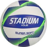 Bola De Vôlei Stadium Super Soft Branca E Azul