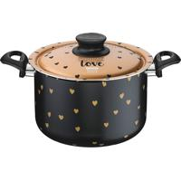 Espagueteira Antiaderente 24Cm My Lovely-Tramontina - Preto / Dourado