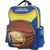 Mochila Nba Golden State Warriors 3D Bola - Infantil - Azul/Amarelo
