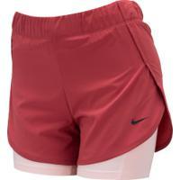 Shorts Nike Flex 2In1 Woven - Feminino - Vinho