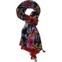 Echarpe Reversível Zohar Colours Multicolorido