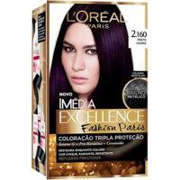 Coloração Imédia Excellence L'Oréal Paris - Fashion Paris 2.160 Preto Couro - Unissex-Incolor