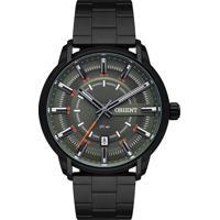 Relógio Orient Masculino Mpss1010 E1Px Pulseira E Caixa Aço Preta Mostrador Preto