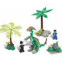 Blocos De Encaixe Xalingo Dino Saga Operaçáo Oviraptor Dinossauros 112 Peças 6576 Verde - Tricae