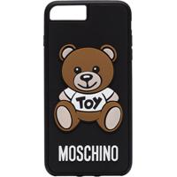 Moschino Capa Para Iphone 8 Plus Com Logo - Preto