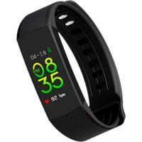 Smartwatch Com Monitoramento Cardíaco Qtouch Com Bluetooth E Monitor