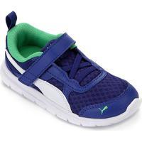 Tênis Infantil Puma Flex Essential V - Unissex-Azul+Branco